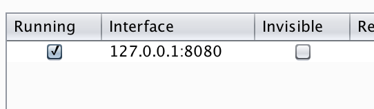 Burp Suite Proxy settings